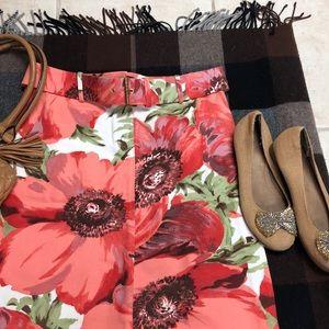 Celine spring summer floral skirt